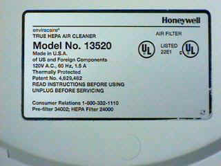 Honeywell Label